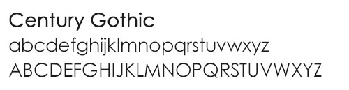 century-gothic-font-type