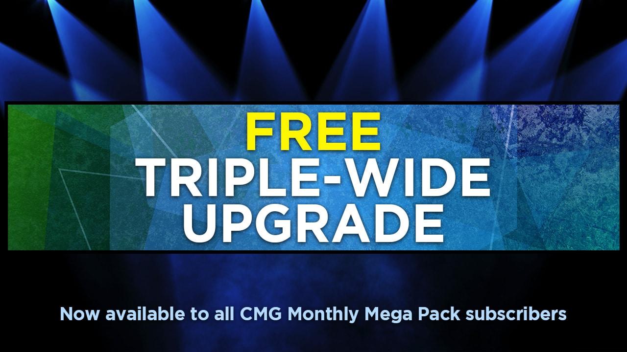 Free upgrade triple-wide media motion loops