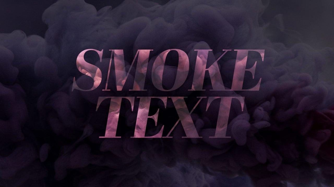 Free Smoke Text Template