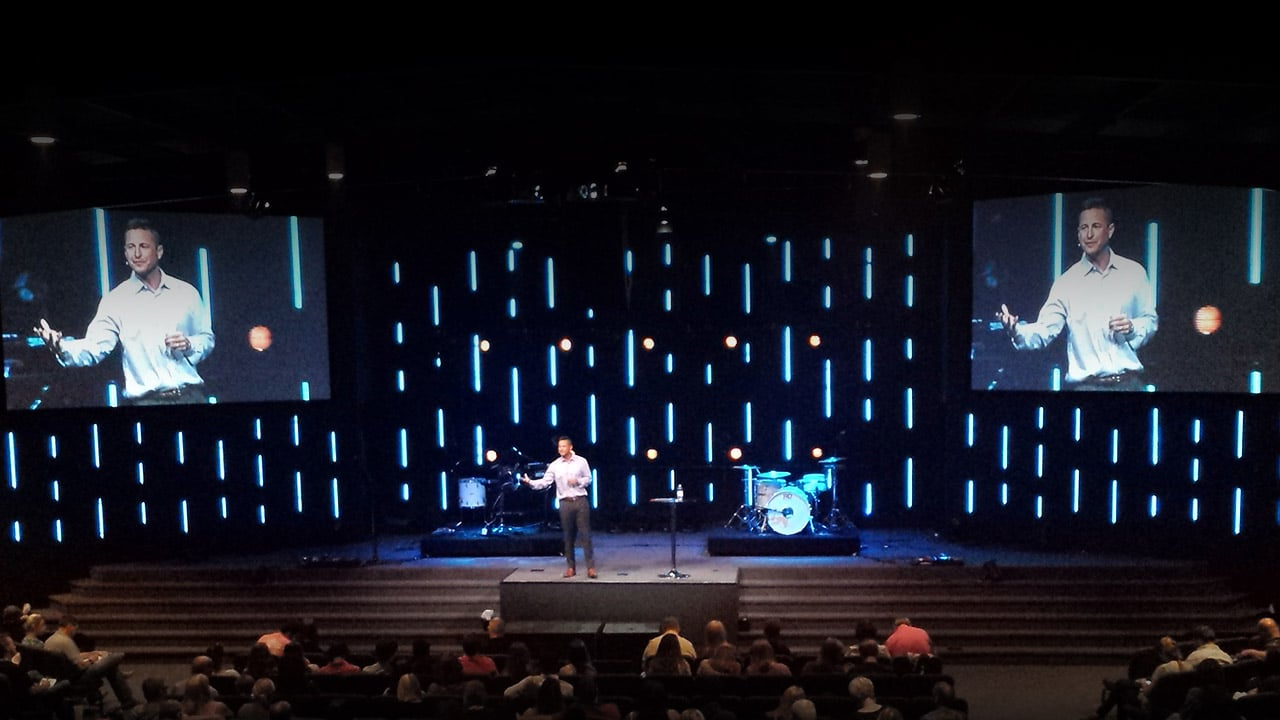 Led Strip Stage Design At Opendoor Church Cmg Church