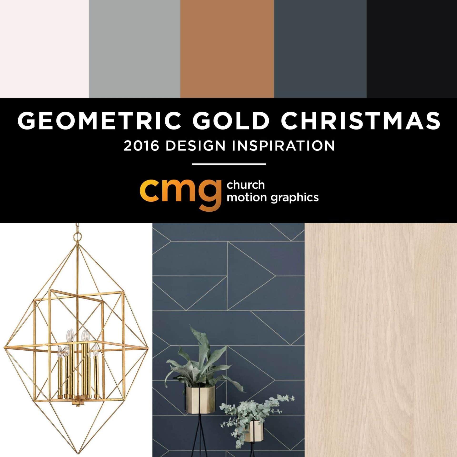 Geometric Gold Christmas