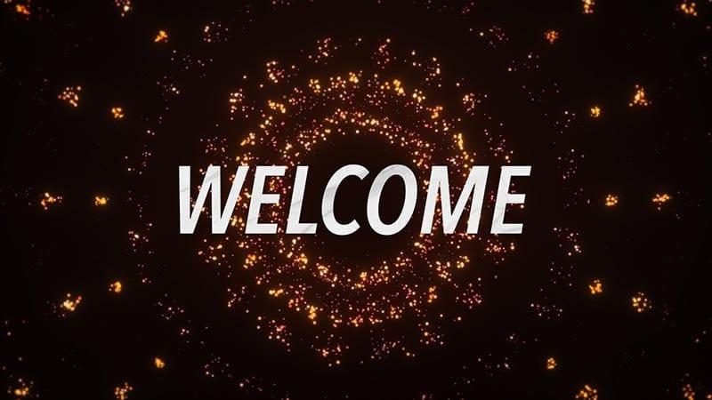 Circle Burst Welcome