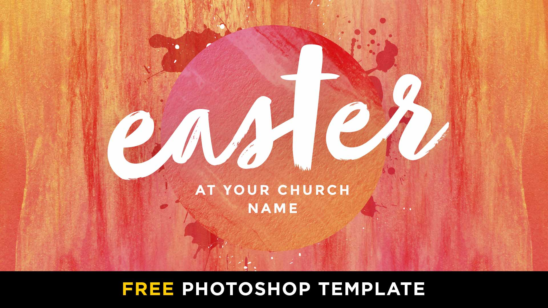 Free Easter Hot Paint Circle Photoshop Template