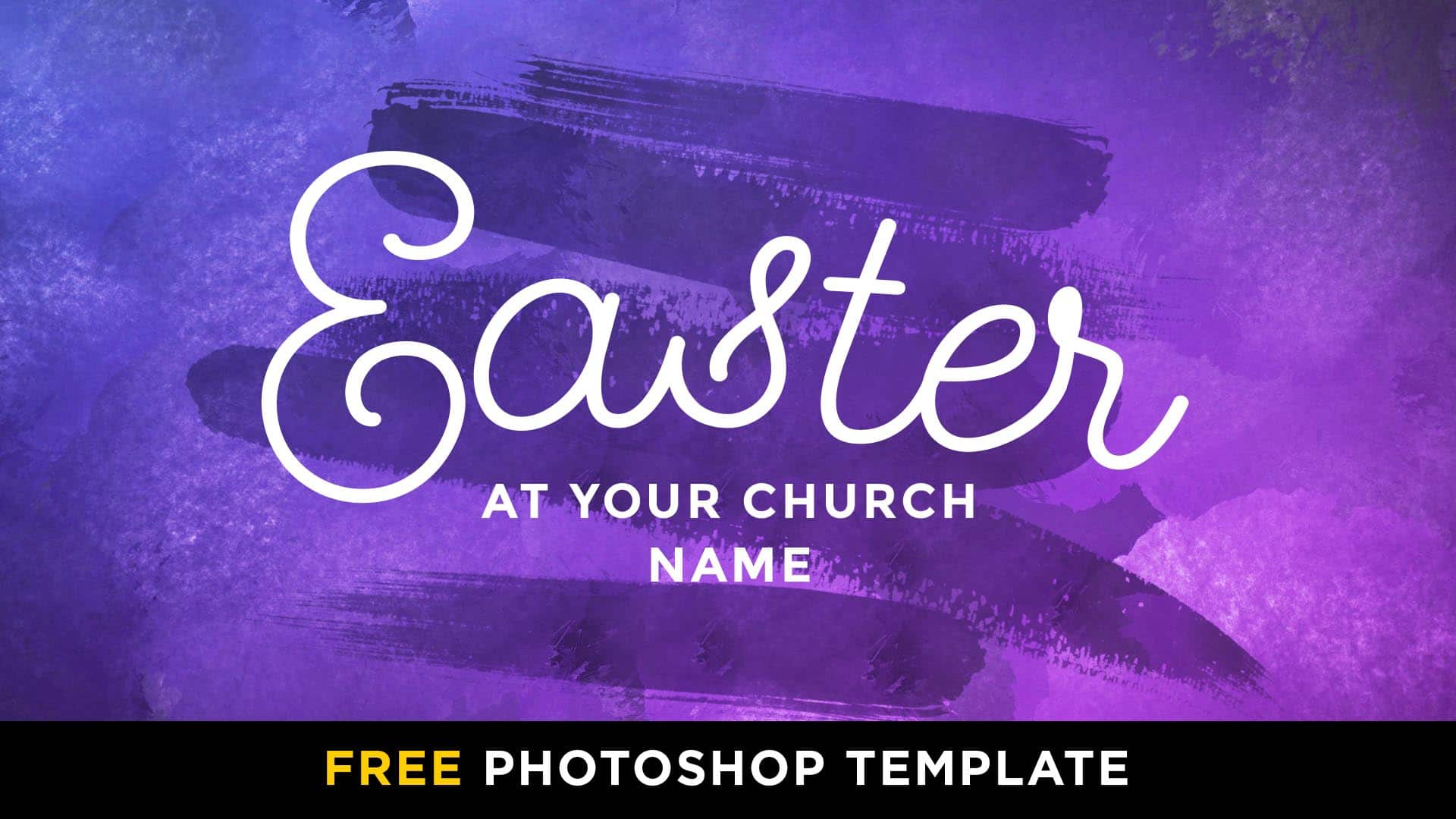 Free Easter Hot Paint Stroke Photoshop Template