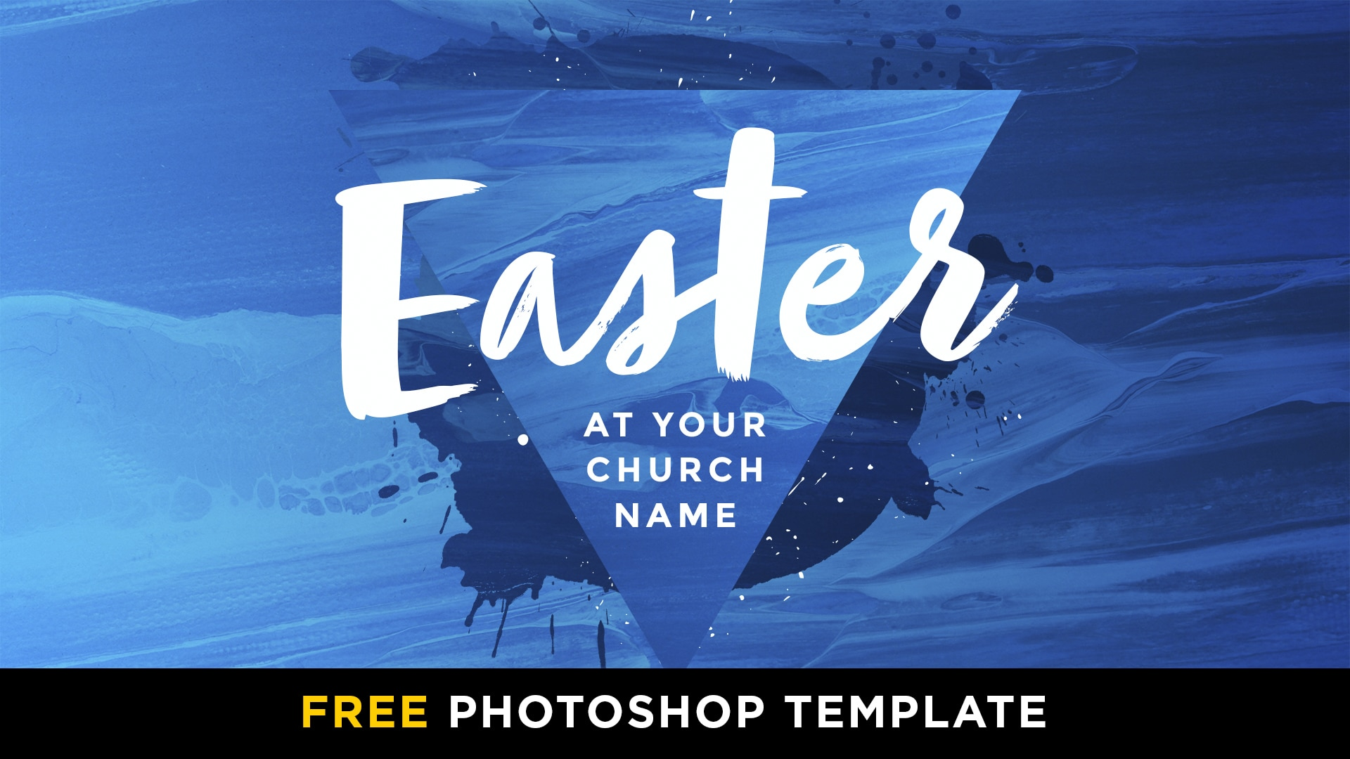 Free Easter Hot Paint Triangle Photoshop Template