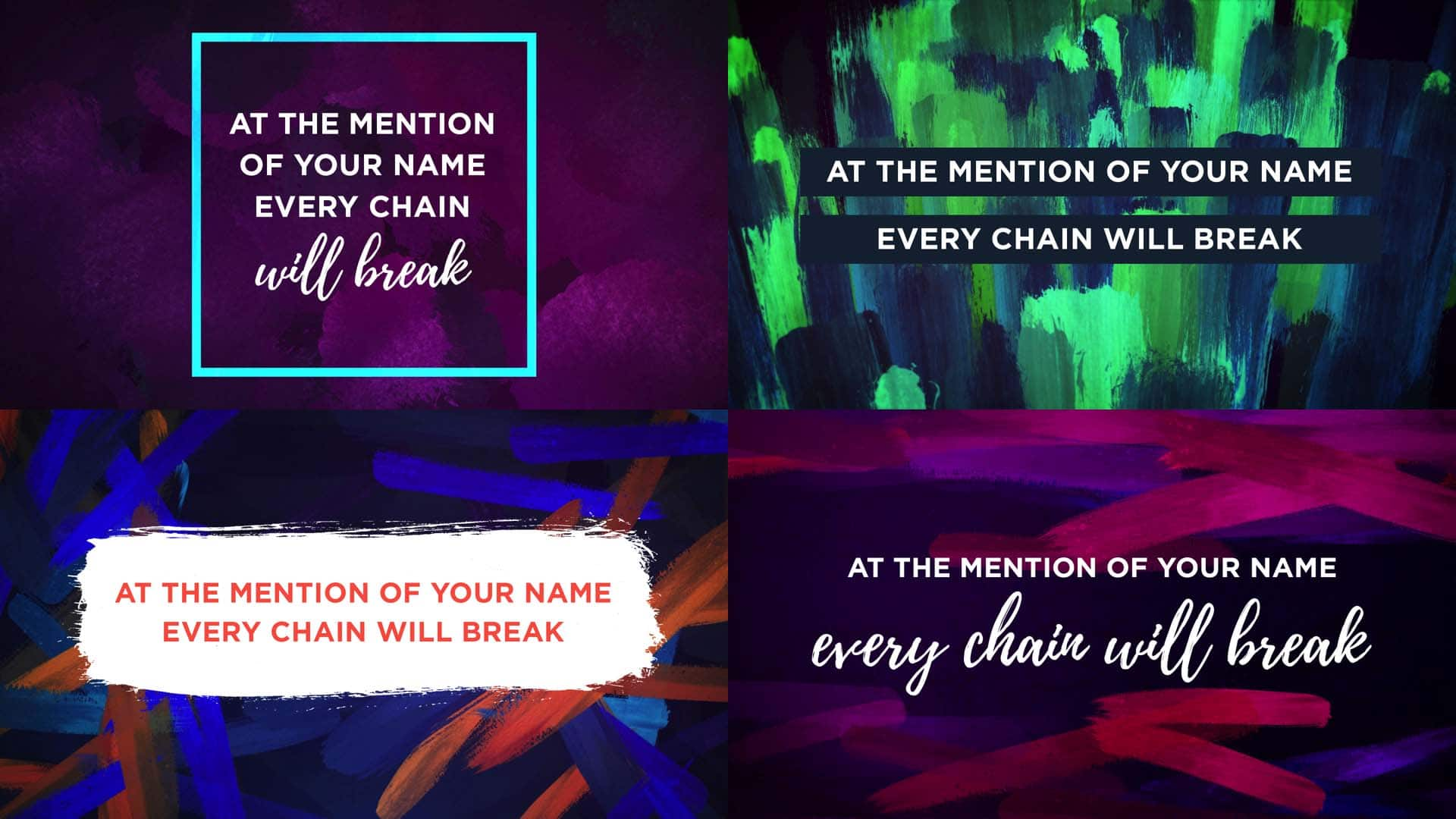 10 Lyric Slide Designs That Will Inspire You For Easter