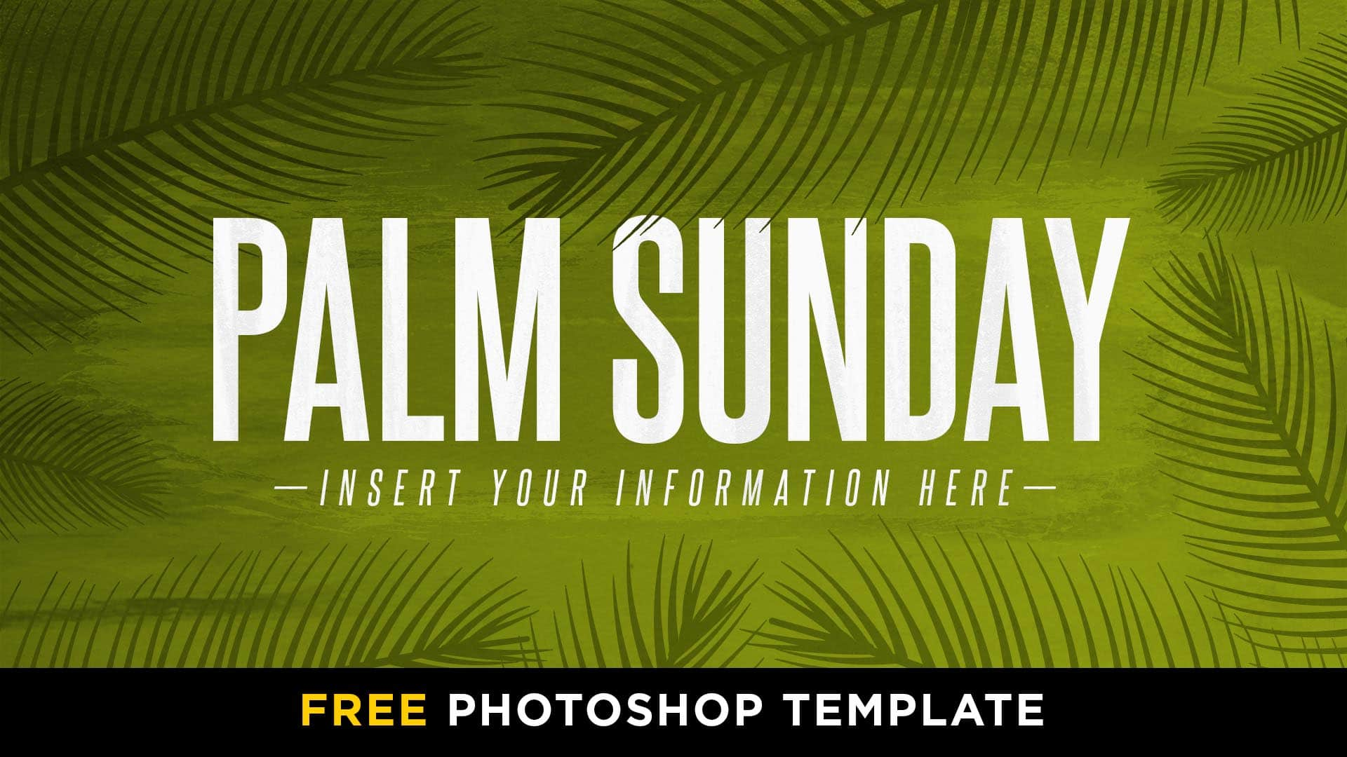 Free Palm Sunday Hot Paint Photoshop Template