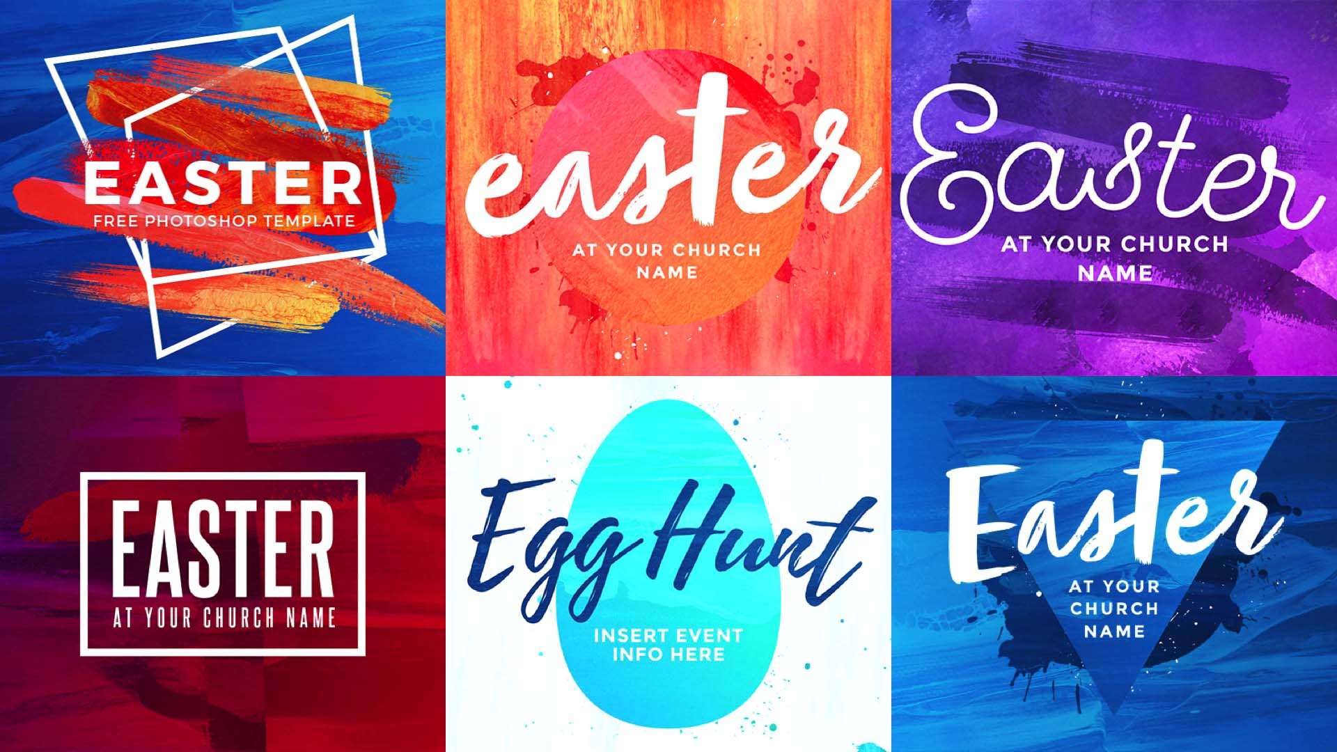 6 Must-Have Photoshop Templates For Easter