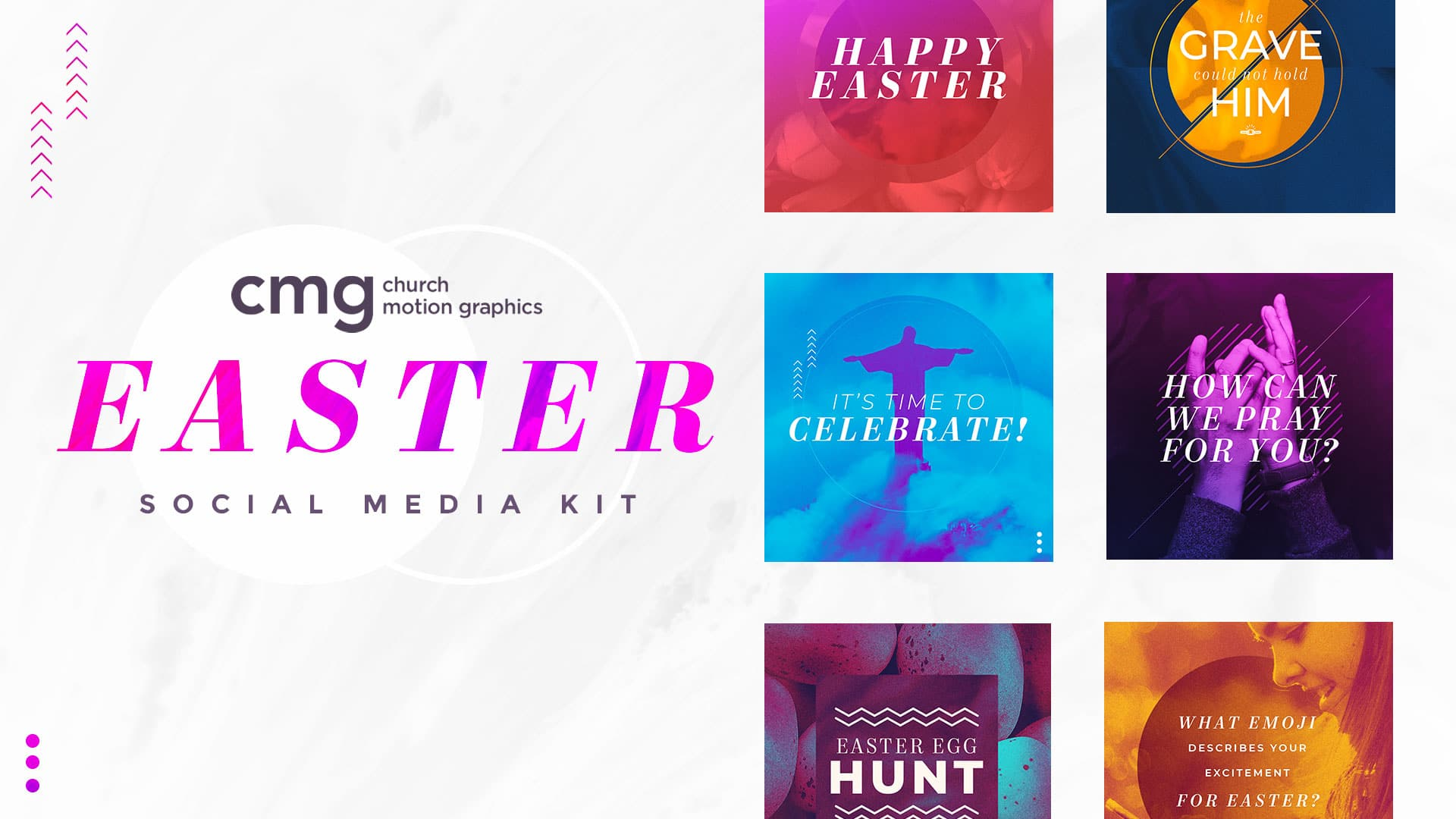 easter social media kit marble flow cmg church motion graphics
