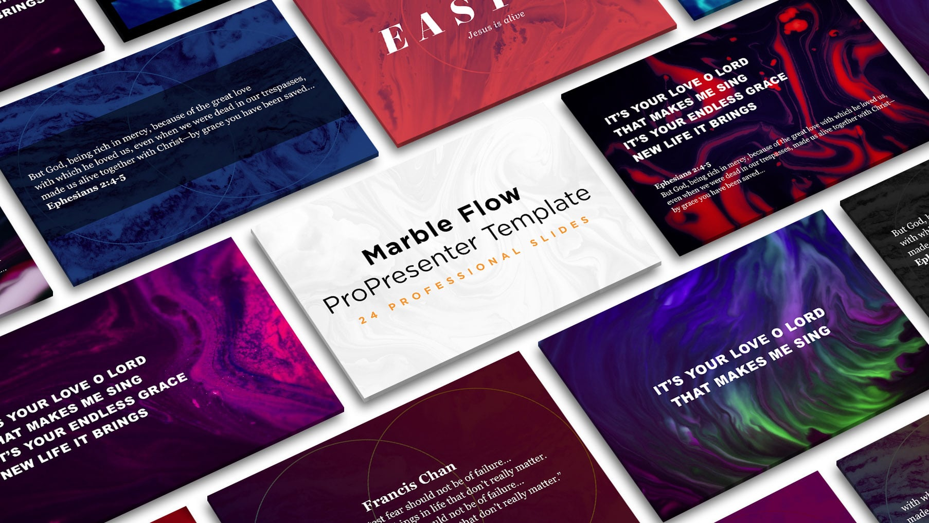 Free Marble Flow ProPresenter Template