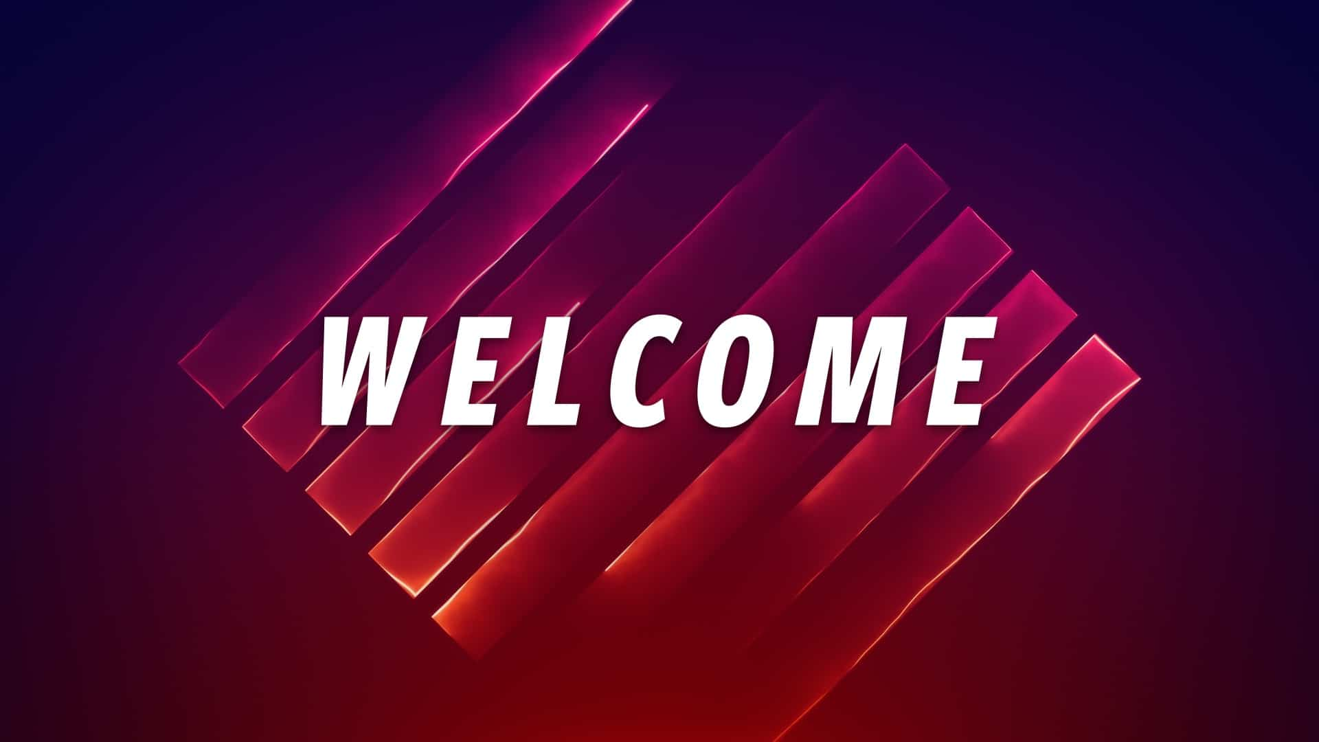 Neon Box Welcome