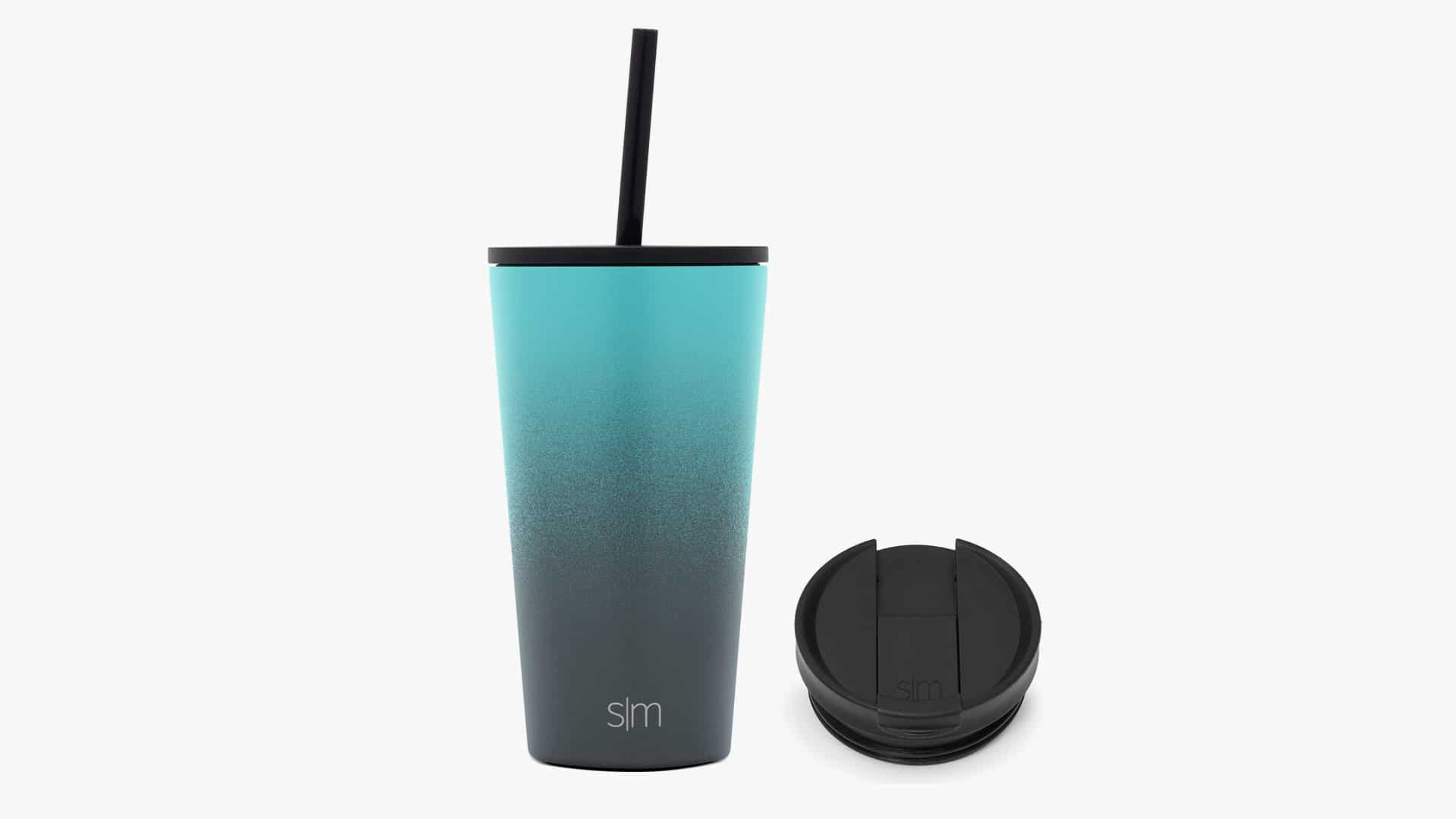 Simple Modern Tumbler with Straw Lid and Flip Lid