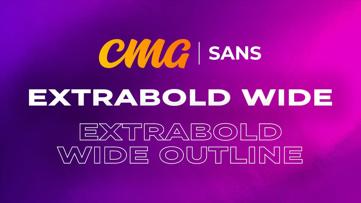 CMG Sans ExtraBold Wide
