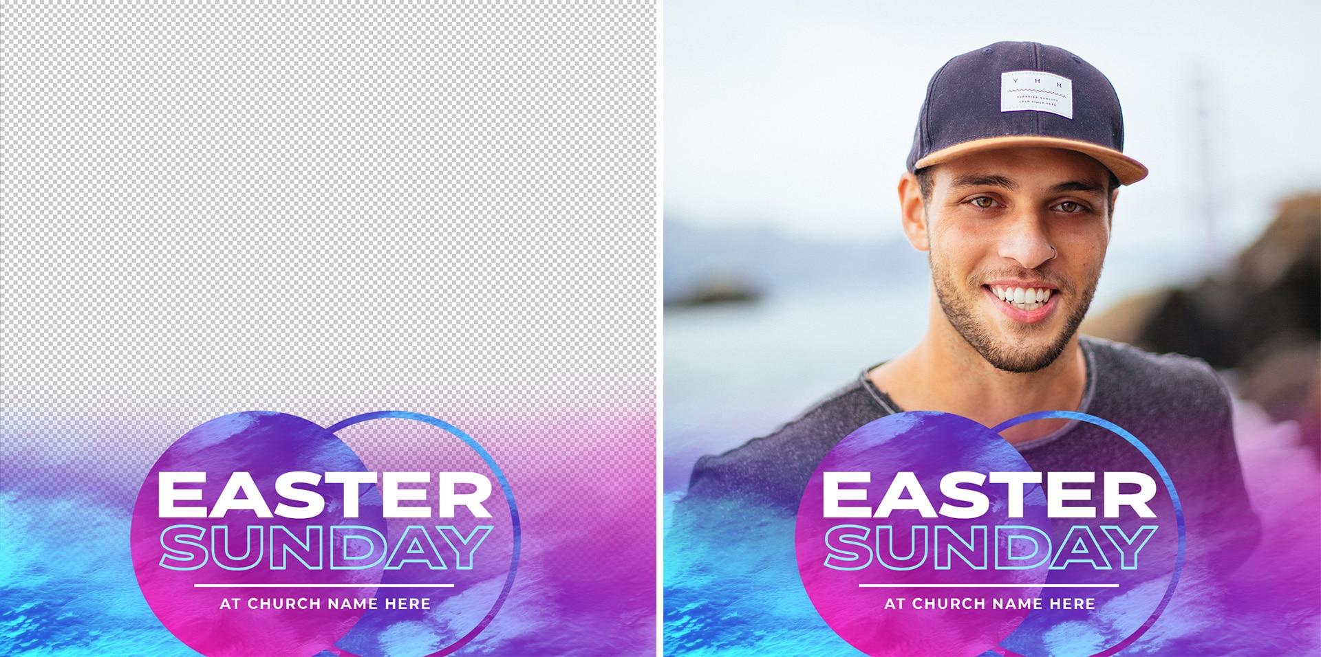 3 Free Foil Vibes Easter Facebook Profile Frames - CMG ...