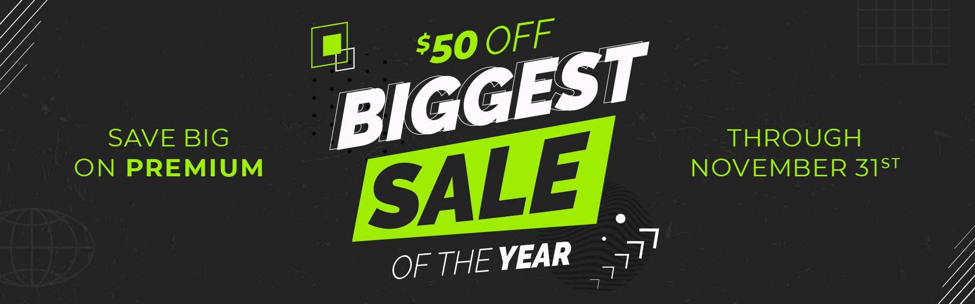 $50 Off Biggest Sale
