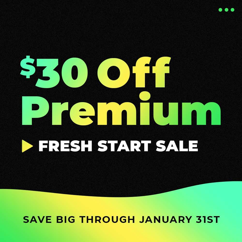 Fresh Start Sale 2021