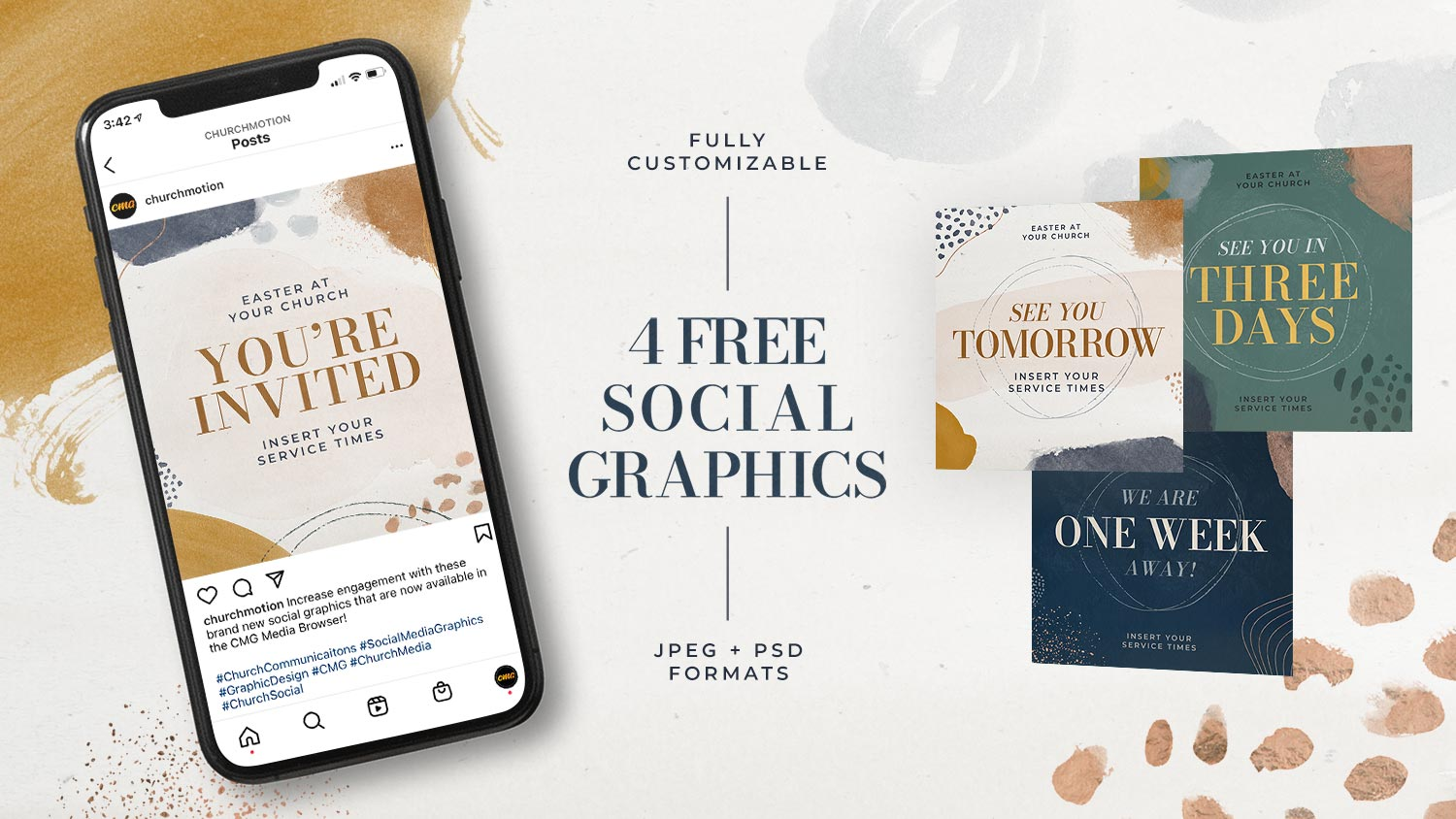 4 Free Easter Social Graphics