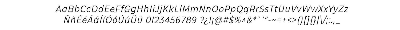 CMG Sans Condensed Italic