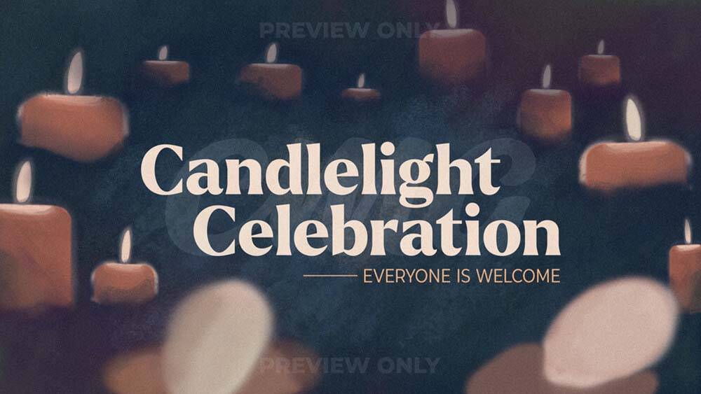 Candlelight Celebration Faded Painted Candles