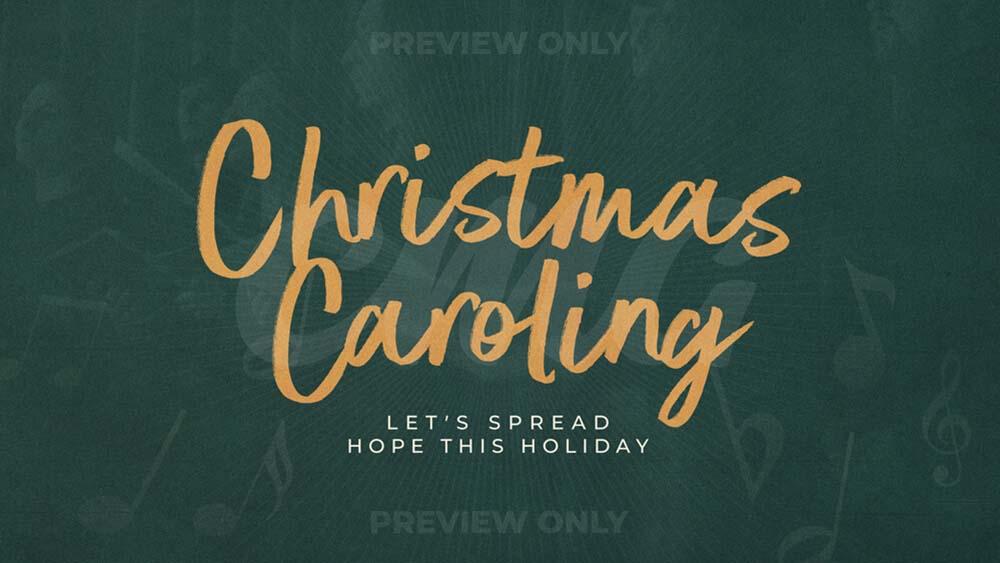 Christmas Caroling Green Sunbeam Choir