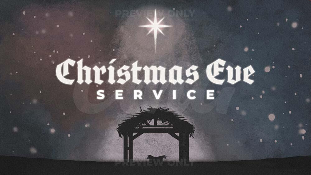 Christmas Eve Service Painted Night