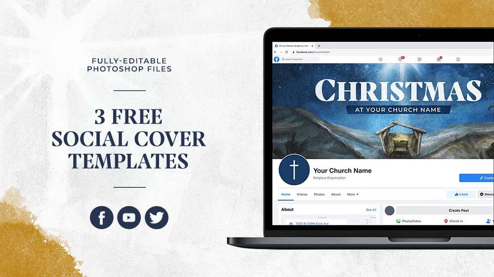 3 Free Christmas Social Cover Templates
