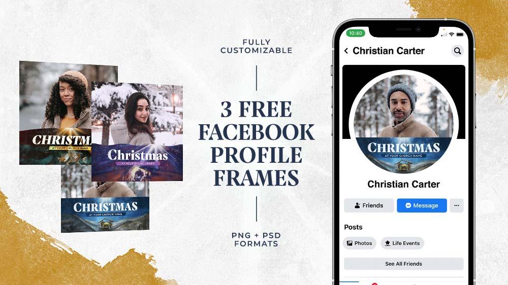 3 Free Christmas Facebook Profile Frames
