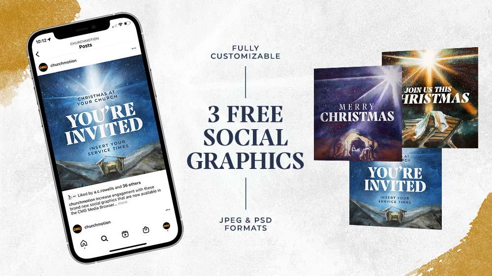 3 Free Christmas Social Graphics