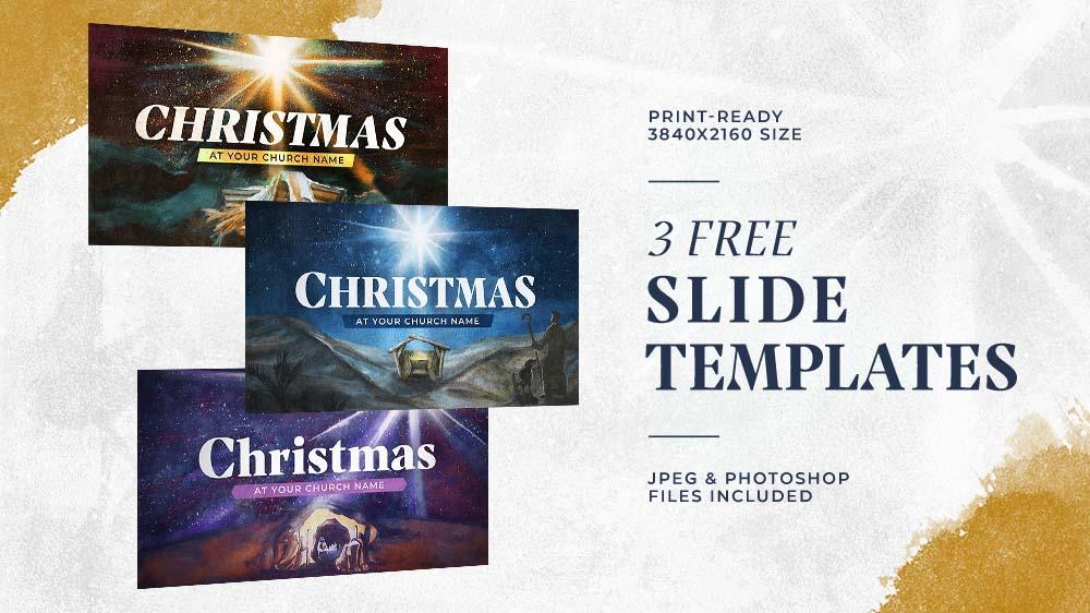 3 Free Christmas Slide Templates