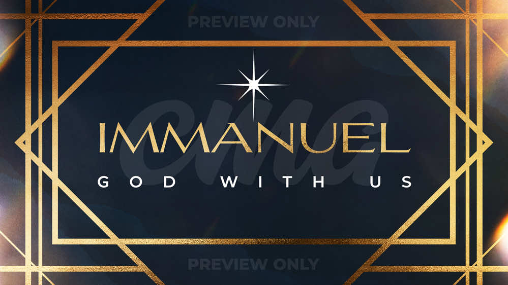 Immanuel God With Us Gold Lines